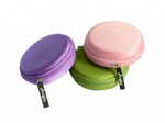 Colorful headphone holding case for travel
