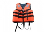 Orange Neoprene Life Vest for Adults with Whistle