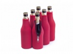 Neoprene Blank Zippered Bottle cooler/ koozies /coozies/ coolies