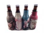 zippered neoprene imprinted Bottle cooler/ koozies /coozies/ coolies