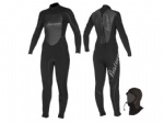 womens Winter wetsuit 3/2mm With hood